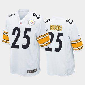 Steelers Antoine Brooks White Jersey